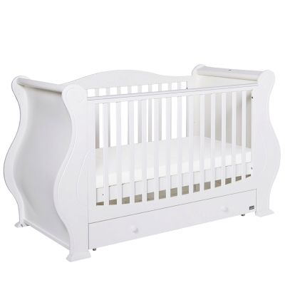 Tutti Bambini Louis Cot Bed Cot Bedding White Nursery Furniture