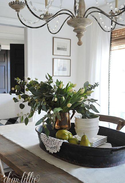 Dear Lillie Summer Dining Table Decor Dining Room Table Centerpieces Dining Table Decor Birch lane dining room refresh