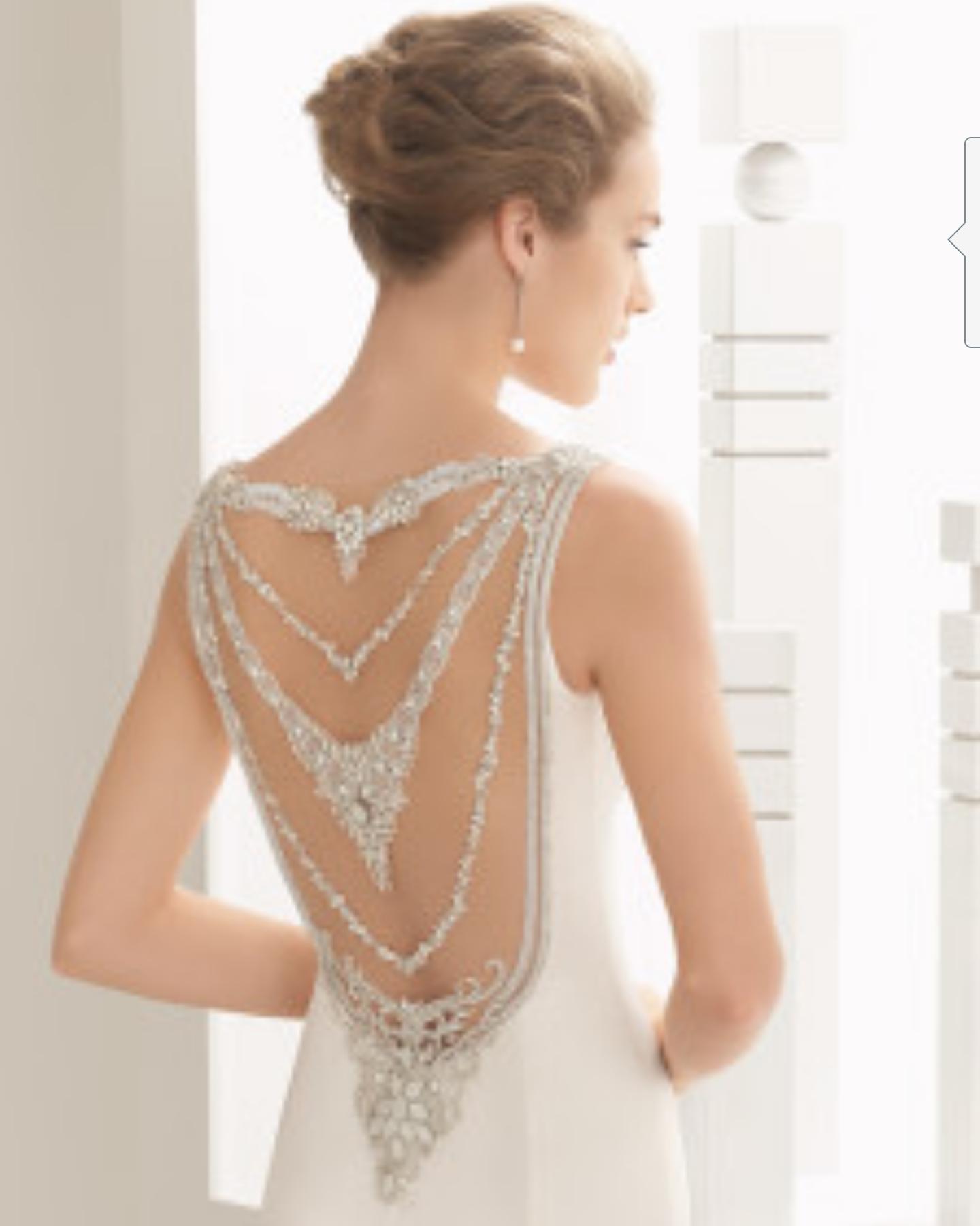 NAISHA jeweled back view Wedding in Pinterest Wedding