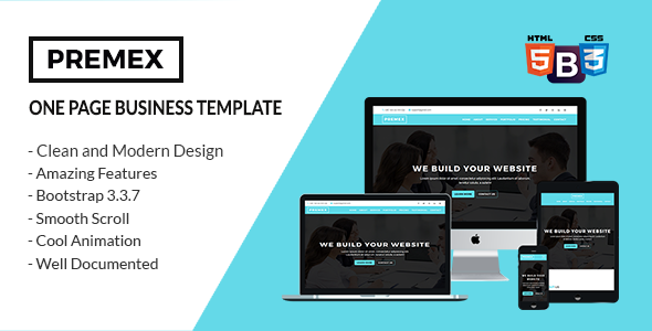 Premex one page business template website templates pinterest premex one page business template wajeb Images
