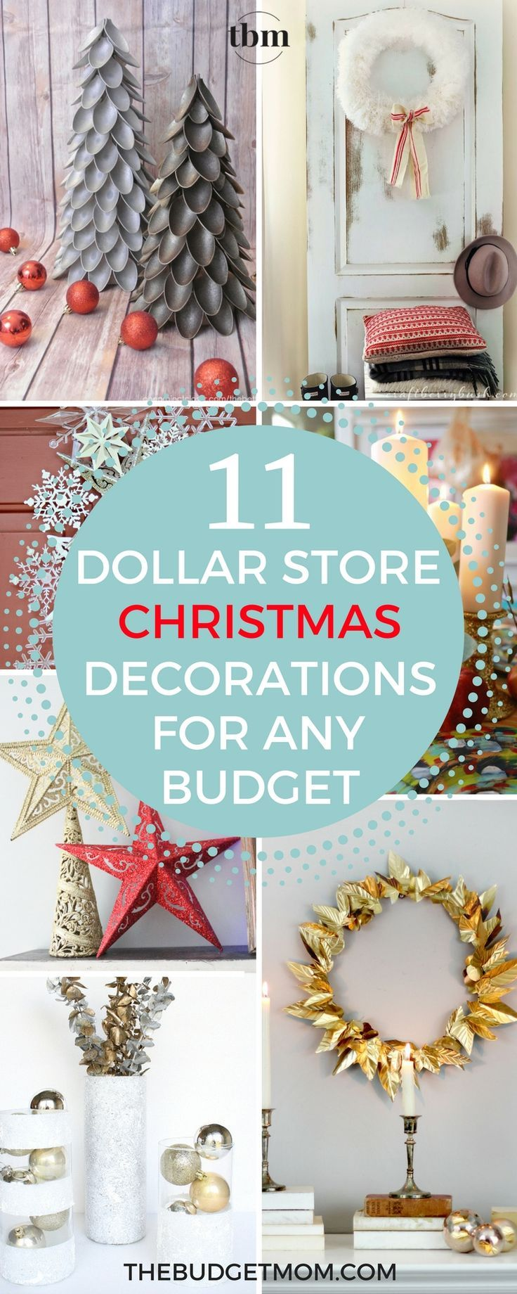 i absolutely love all of these dollar store christmas ideas the gold wreath is my absolute favorite i have a very small christmas budget this year and
