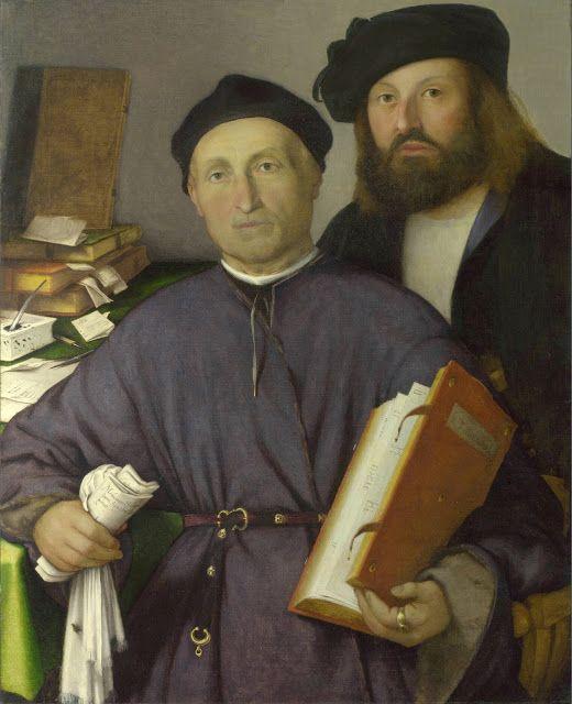 Lorenzo Lotto - Giovanni Agostino della Torre y su hijo Niccoló, 1515