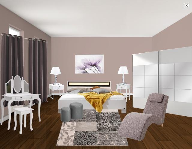 chambre taupe et blanc Bedroom Pinterest