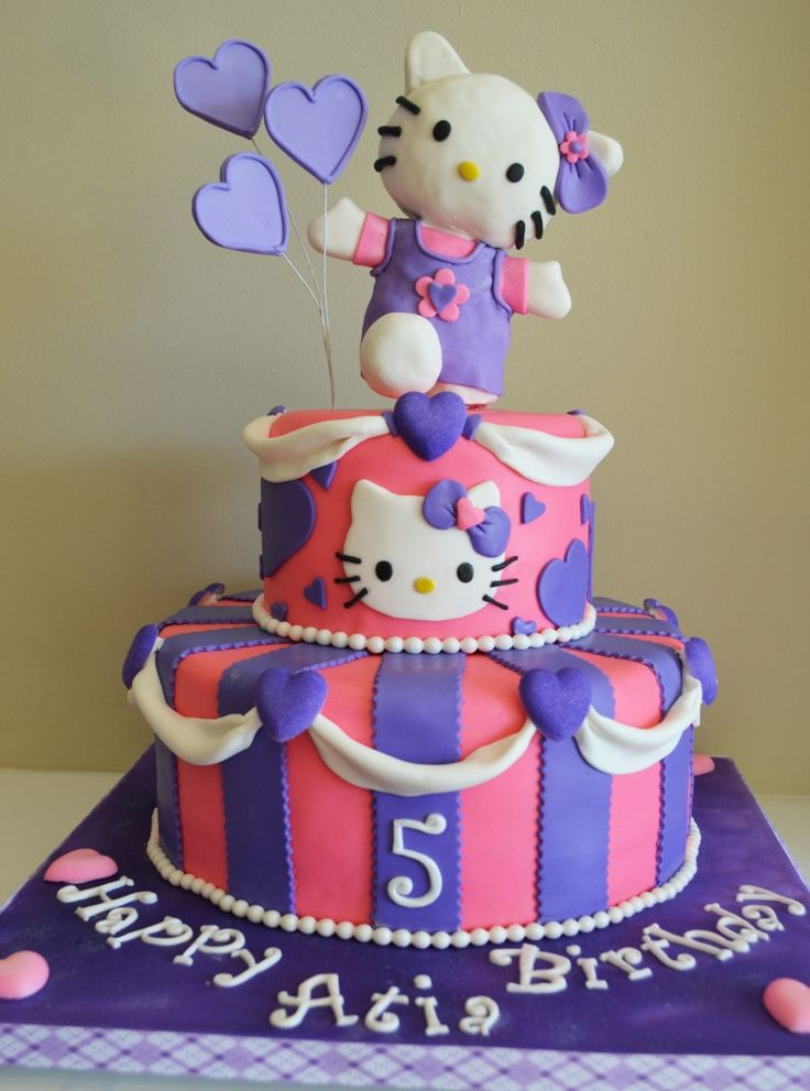 Fantastic Top 10 Kids Birthday Cakes Decoration Tutorials Hello Kitty Personalised Birthday Cards Epsylily Jamesorg