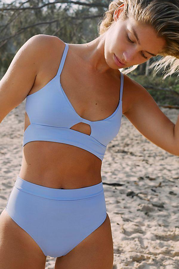 Women Two Pieces Bandeau Bikini Swimsuits Off Shoulder High Waist Bathing Suit Women Summer Fashion 2020