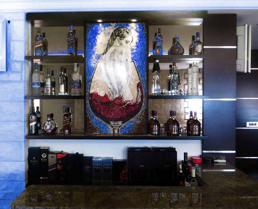 Mosaic wine bar