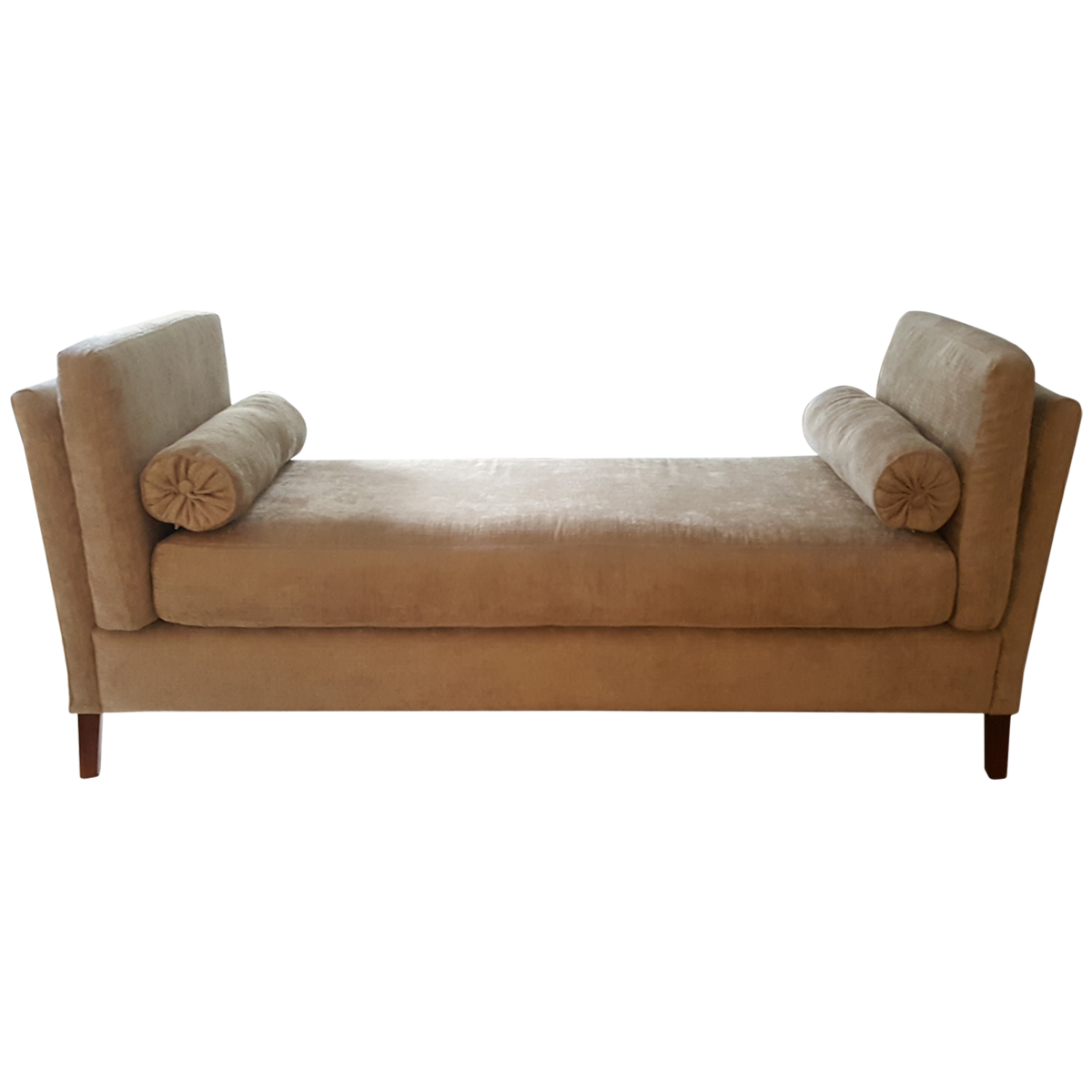 Custom Upholstered High Arm Bench Front Available On Viyet