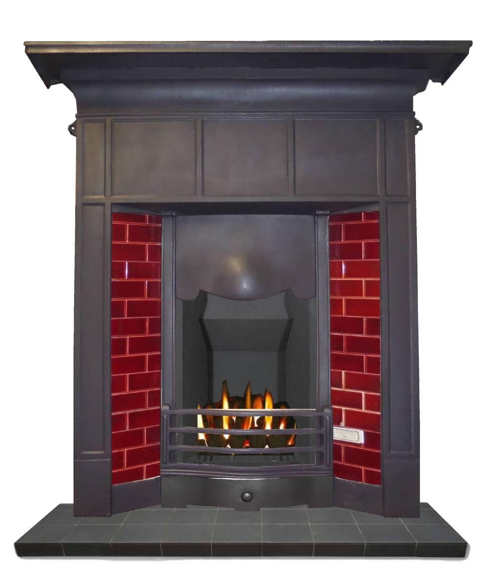 Antique Edwardian Cast Iron Fireplace For Tiles Cast Iron