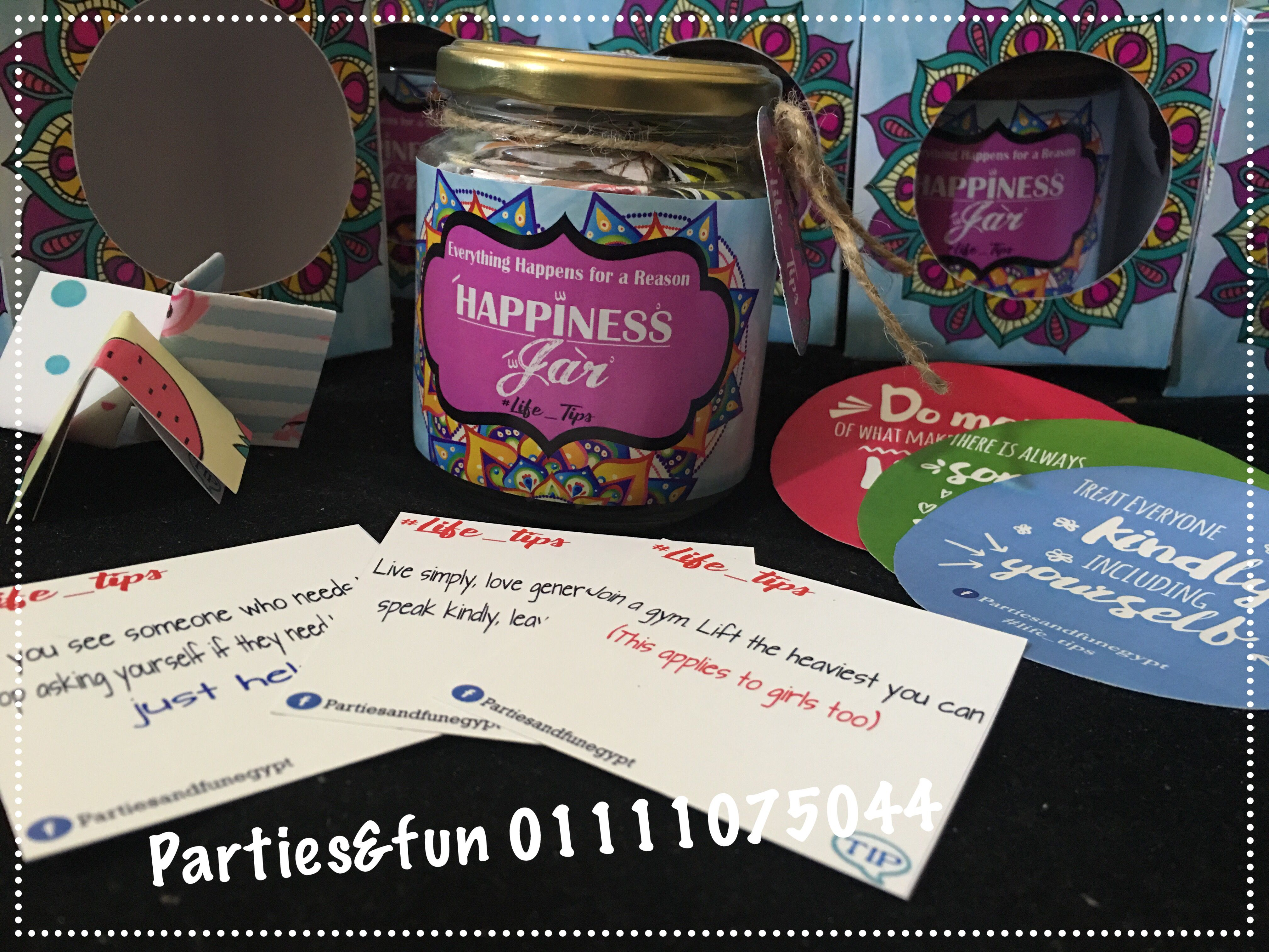 برطمان السعادة Happy Jar Jar Live Simply