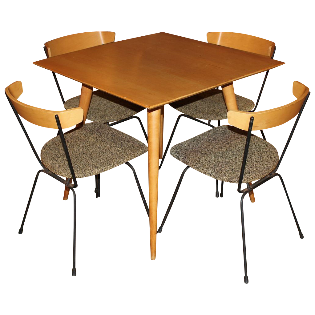 Set of Four Clifford Pascoe Chairs with Paul McCobb Maple ...