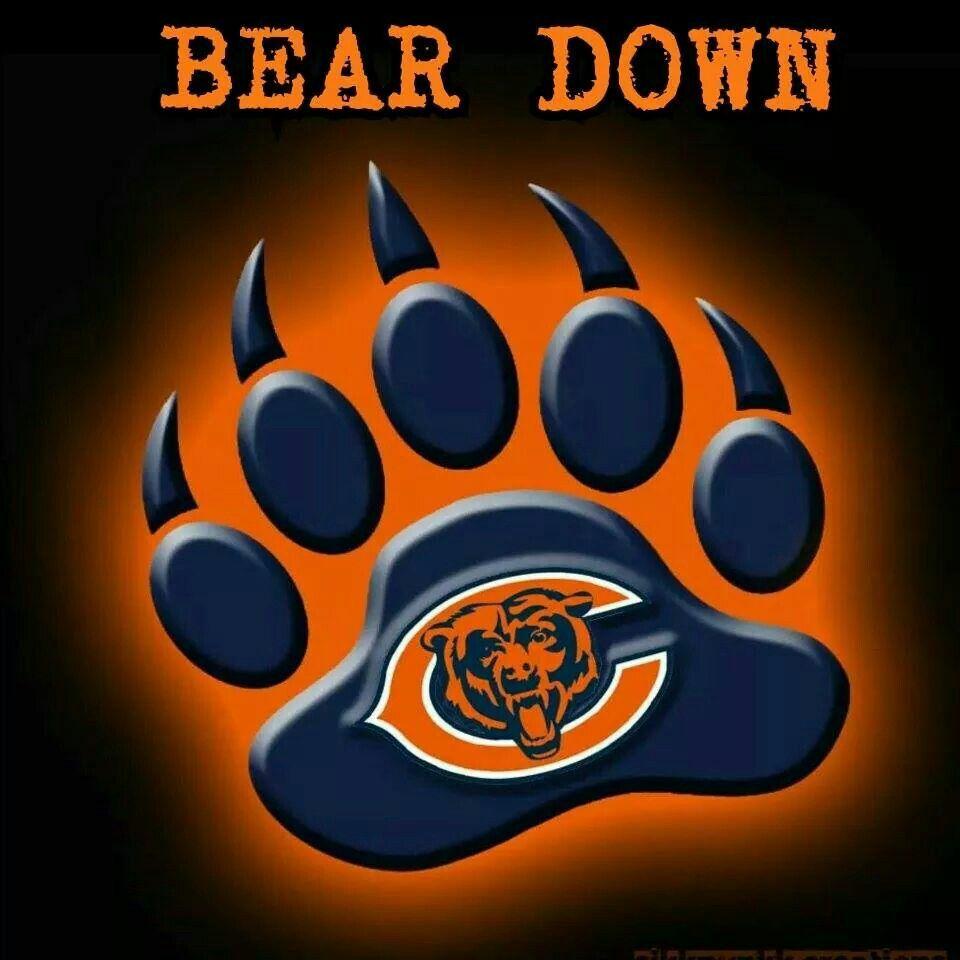 da bears  on pinterest chicago bears  jay cutler and nfl bear paw clip art free bear paw silhouette clip art
