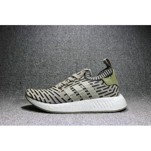 Billige Adidas NMD R2 primeknit Trace carga Core negro Herren zapatos