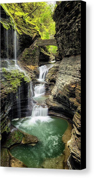 Rainbow Falls Gorge Canvas Print / Canvas Art by Stephen Stookey