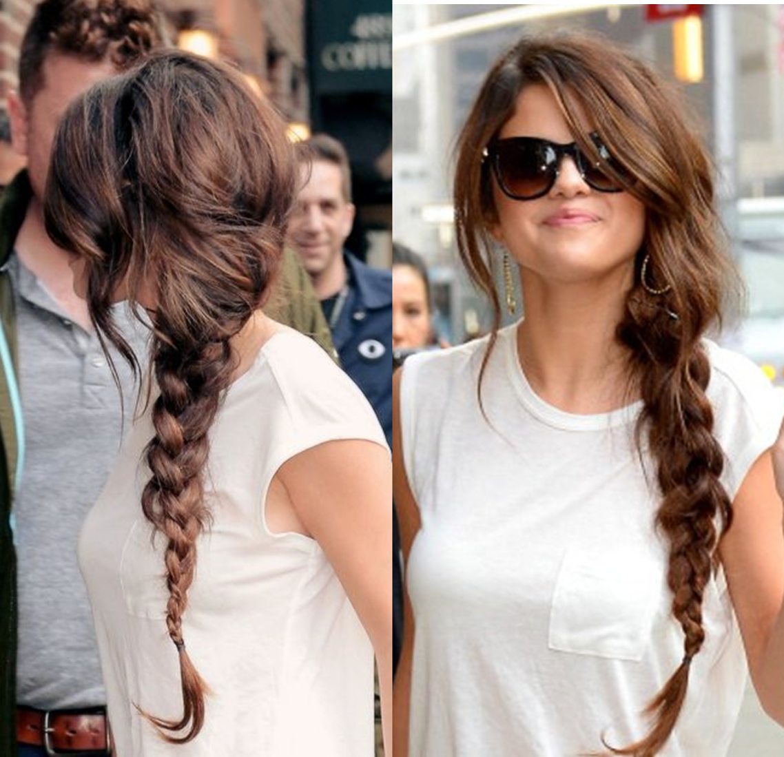 selena gomez summer side braid
