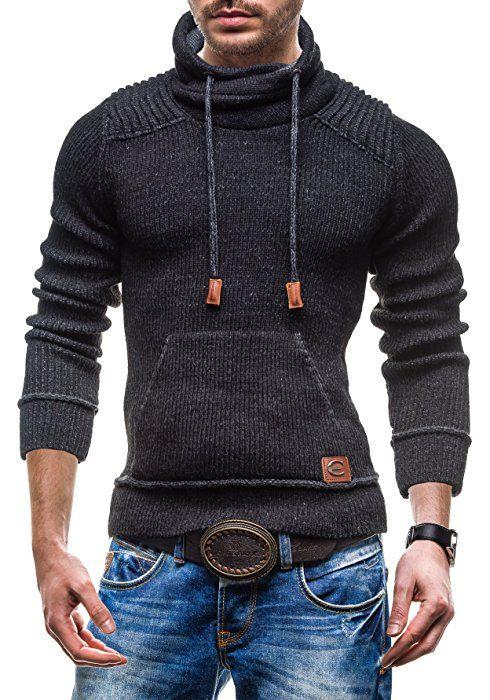 bolf herren swetshirt pullover comeor 514 schwarz l [5e5  bekleidung damen strickjacke c 1_17 #13
