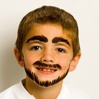 Simple Face Painting Designs For Cheeks Face Painting Easy Beard Face Paint Face Painting For Boys