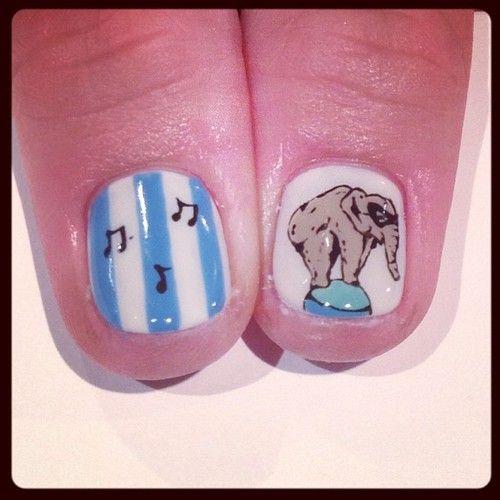 Elephant art nails #avarice #art #kayo #design #nails #nailart #nailsalon #elephant (NailSalon AVARICE)