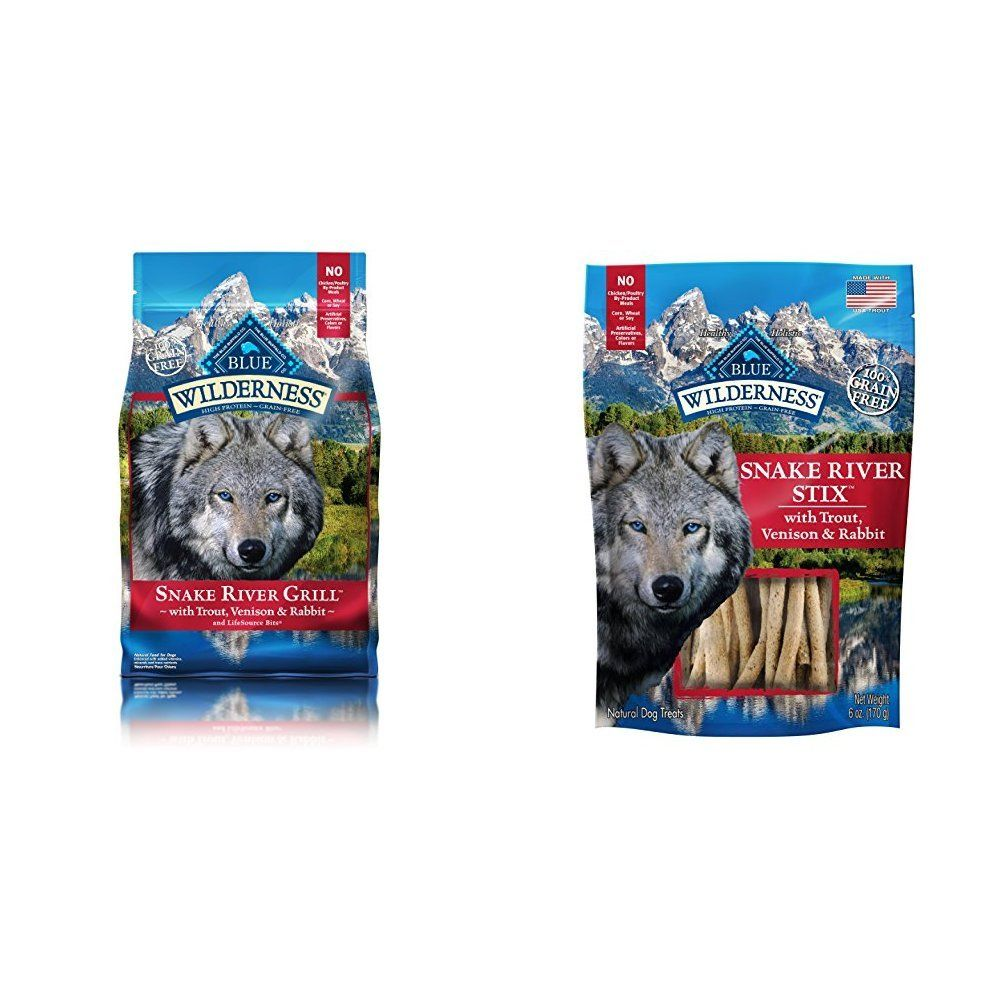Blue wilderness high protein grain free snake river grill