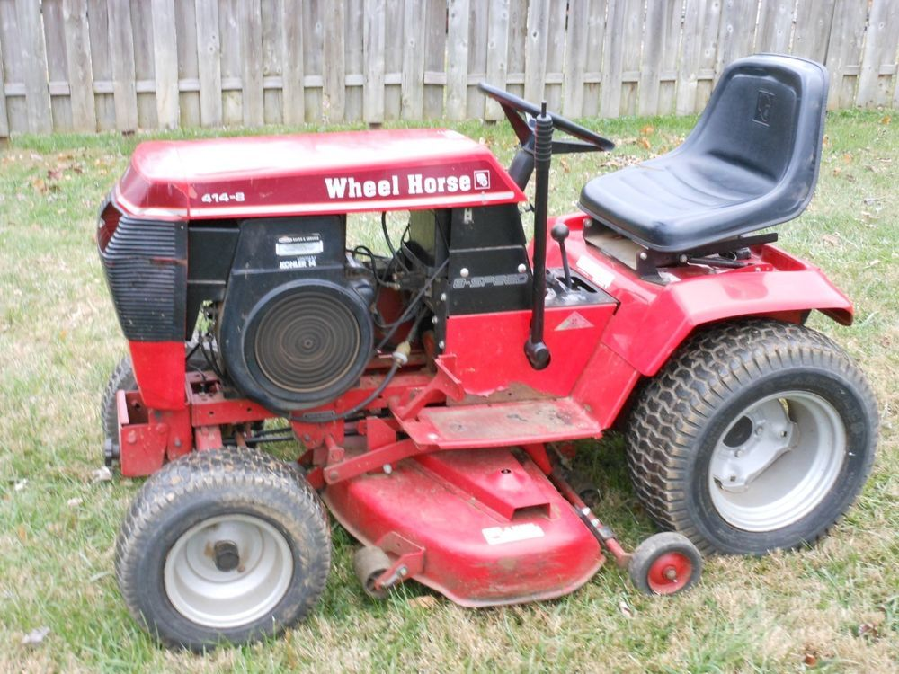 Wheel Horse 414-8 Garden Tractor with 42in Mower Deck 8