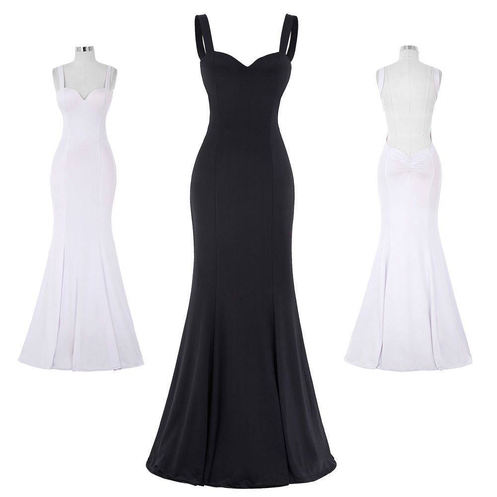 Womenus sexy wedding prom long mermaid dress bodycon cocktail party