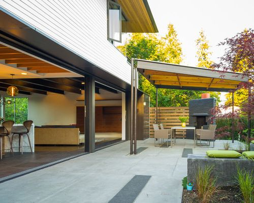 Contemporary Covered Patio As Mid Century Modern Patio Covers For The  Interior Design Of Your Home