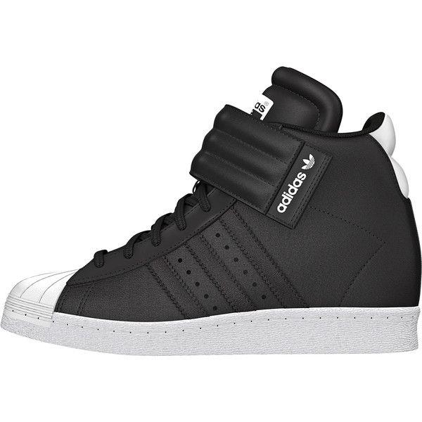 Adidas Originals Superstar UP Strap W Black White fashion wedge sneakers!