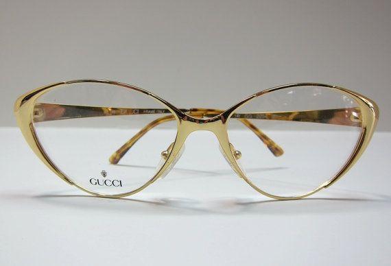c20ba0316 GUCCI Vintage Eye Glasses / Cat Eye Glasses / Retro Glasses / Vintage  Eyewear on Etsy, $350.00