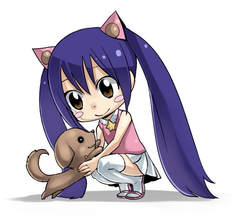 Chibi Wendy and a puppy | Fairy tail art, Fairy tail ...