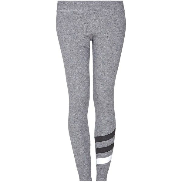 70bc635692ef37 SUNDRY Stripes Yoga Pant found on Polyvore featuring pants, bottoms,  leggings, jeans, workout and grey