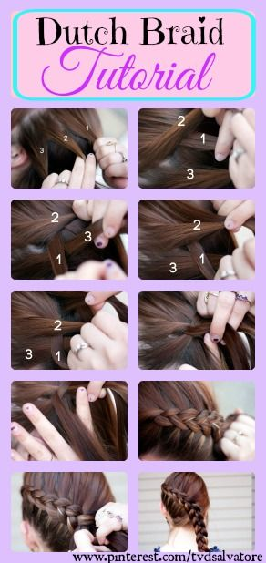 Dutch Braid Tutorial Step By Step With Images Dutch Braid