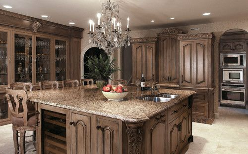 LED lighting chandelier?  Fabulous!  traditional kitchen by Kleppinger Design Group, Inc.