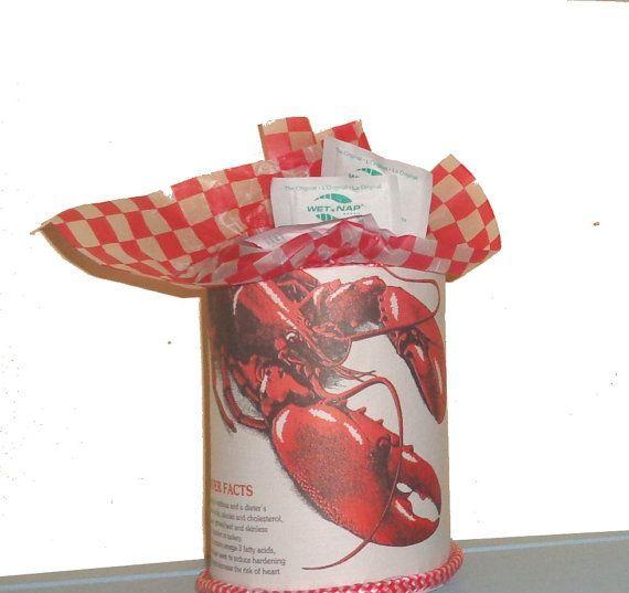 Lobster Table Decorations | Lobster Bake Table Decor Utensil Holder Wet Naps
