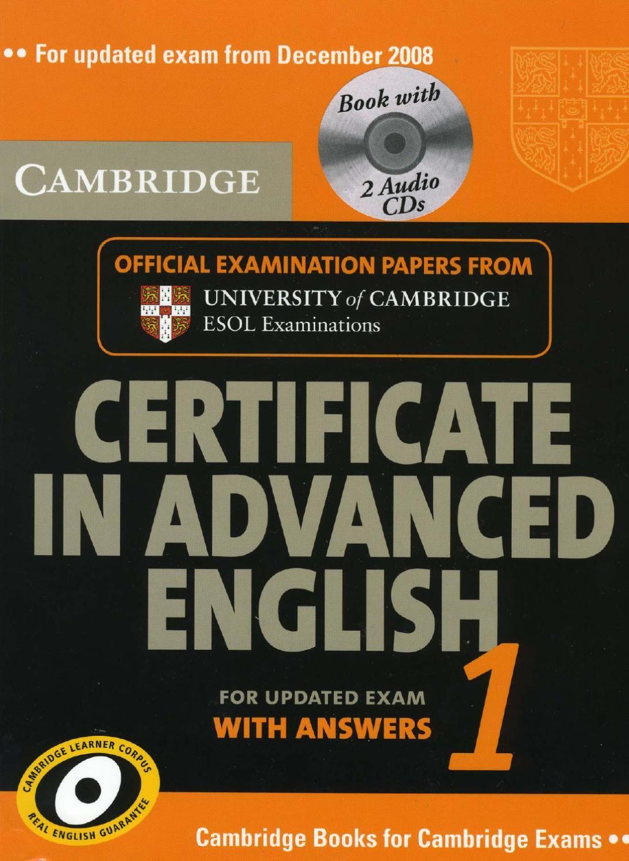 Cae 1 Book No Description English English Advanced English