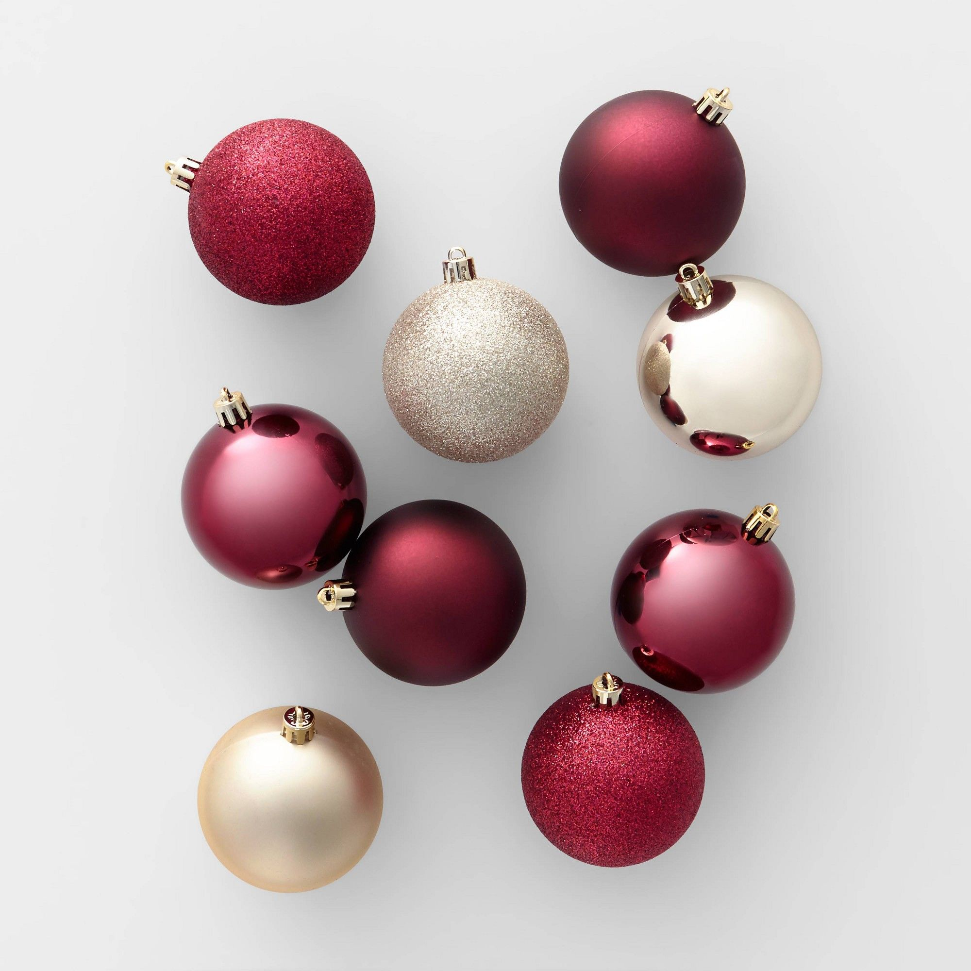 50ct Christmas Ornament Set 70mm Wine and Champagne