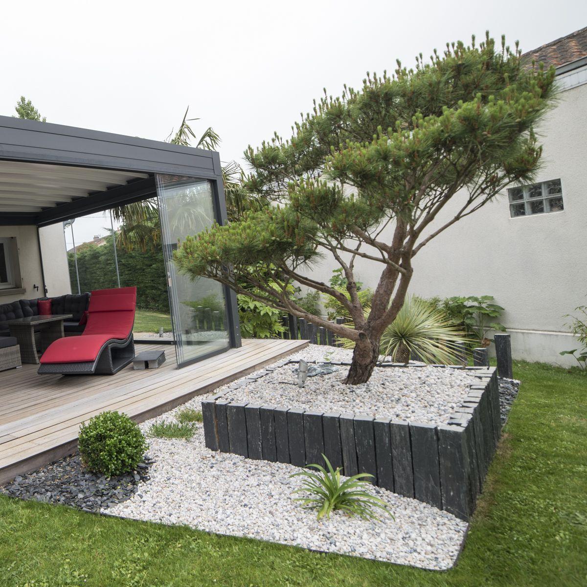 Création de terrasse en Padouk et de massifs avec Niwaki ...