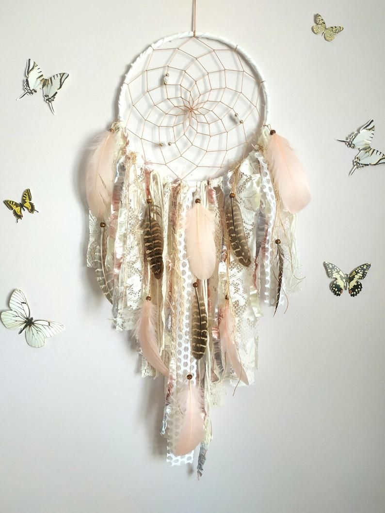 "Handmade Large Boho Dream Catcher Girl/'s 44/"" Nursery Wall Hanging DreamCatcher"