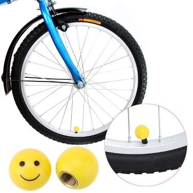 2pcs Smile Face Ball Mtb Road Bicycle Motor Bike Car Schrader Valve Mouth Cover Tyre Wheel Rims Stem American Air Valve Dust Cap Tomtop Com