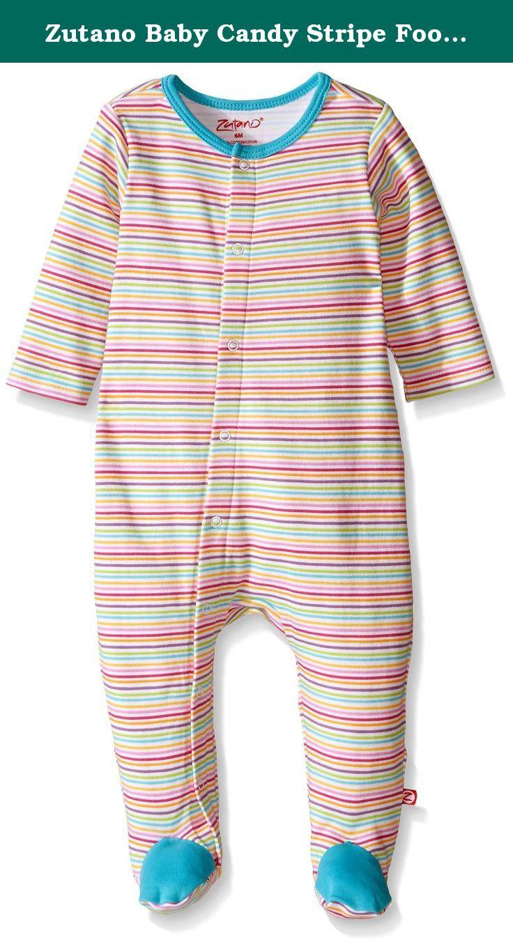 716b8650d Zutano Baby Candy Stripe Footie