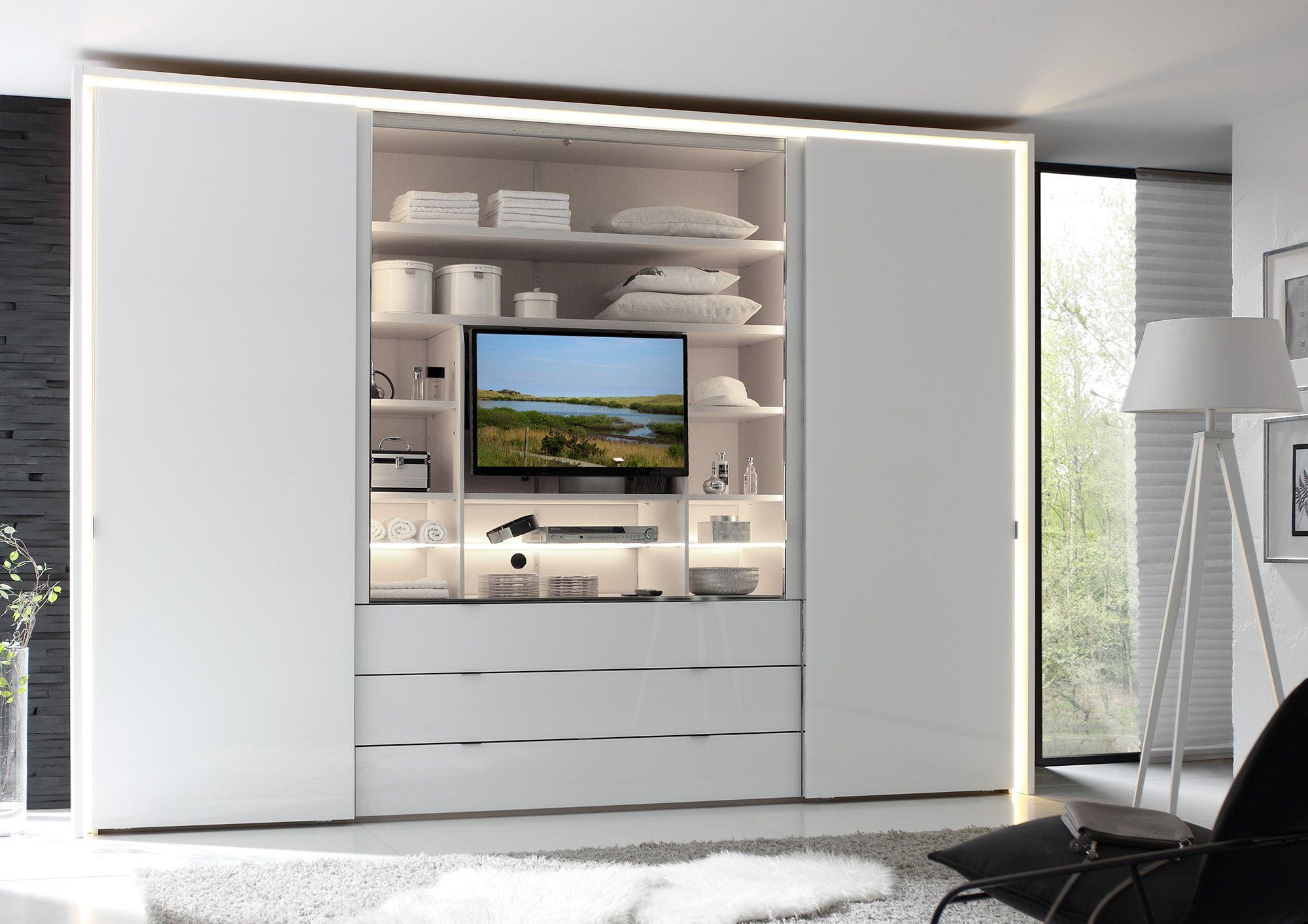 Bildergebnis Fur Kleiderschrank Tv Fach Schlafzimmer Schrank