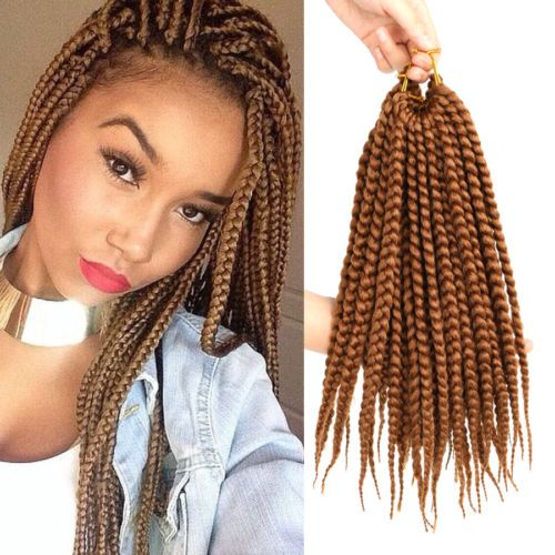 3x Twist Braid Hair Color 30 Box Braids 14 039 039 Crochet Synthetic Braiding Hair Crochet Box Braids Brown Box Braids Twist Braid Hairstyles