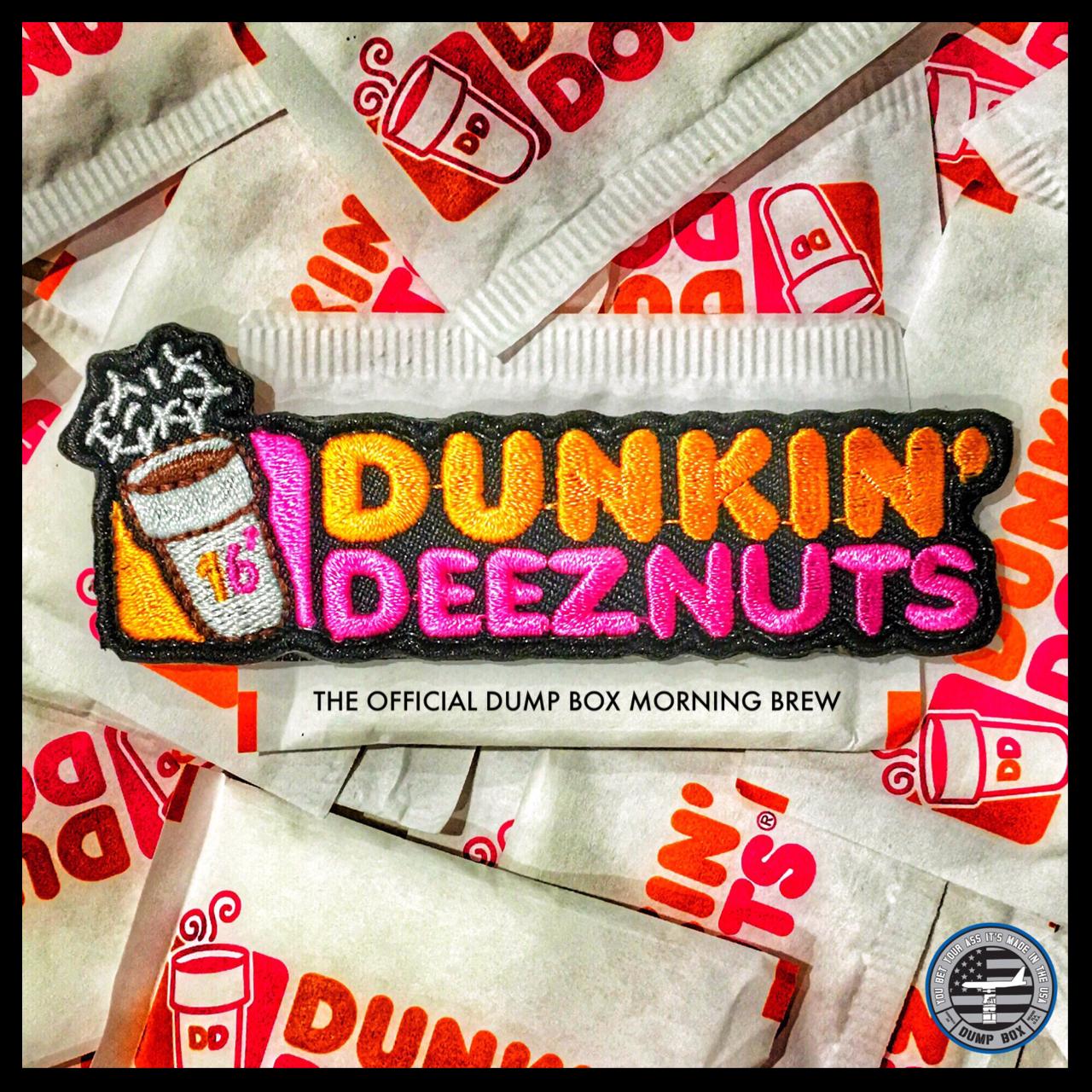 'DUNKIN DEEZ NUTS' COFFEE MORALE PATCH Morale patch