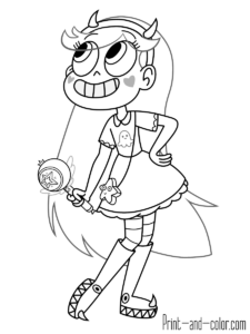 Star vs. the forces of evil in 2020 | Fall coloring pages ...