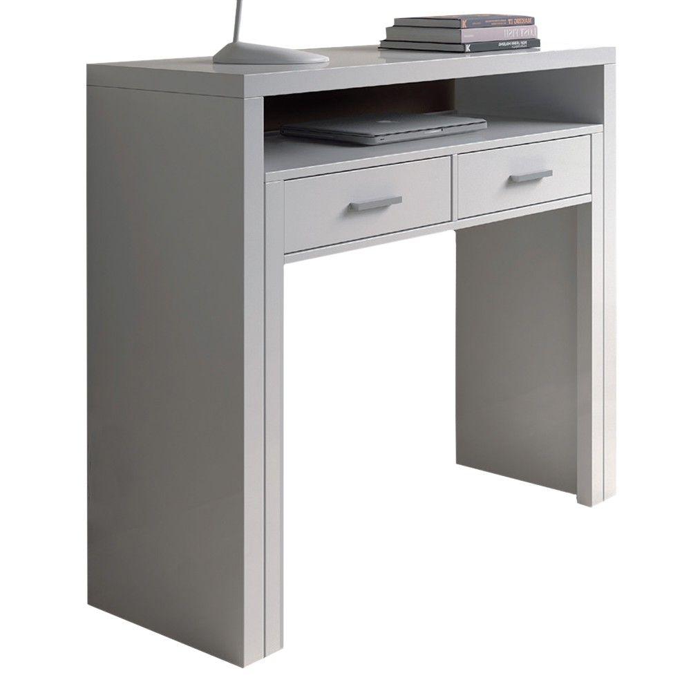 Mobile scrivania scrittoio a scomparsa bianco salva spazio arredo ...