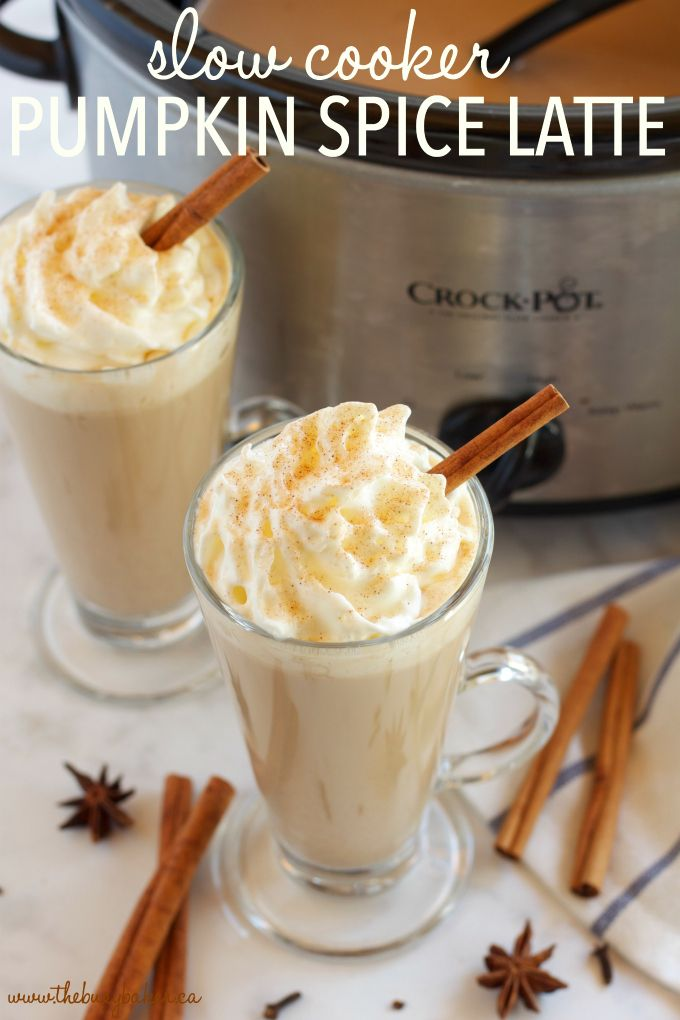 Slow Cooker Pumpkin Spice Latte (Crock Pot) - The Busy Baker