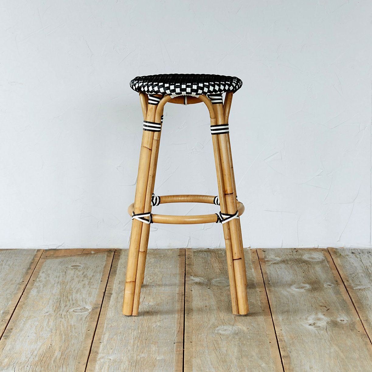 Rattan Café Bar Stool in Outdoor Living Outdoor Seating at