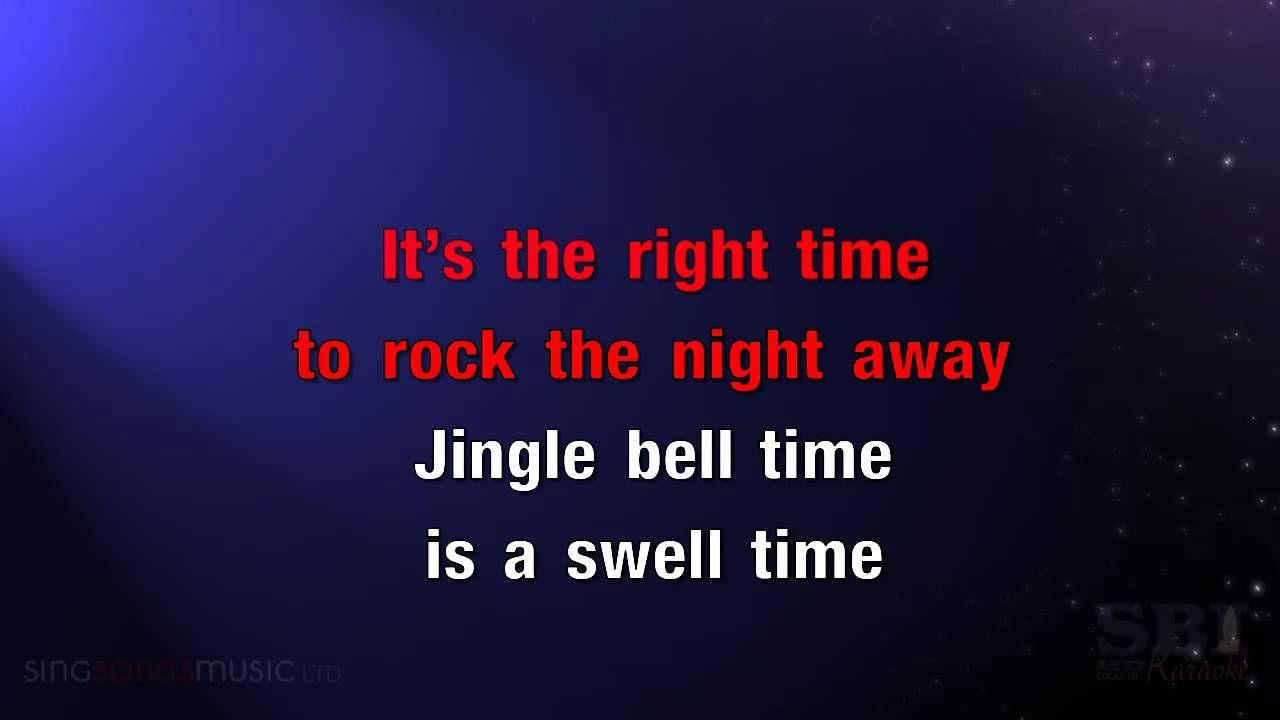 Jingle Bell Rock Karaoke Hd In The Style Of Christmas Karaoke Karaoke Songs Jason Mraz