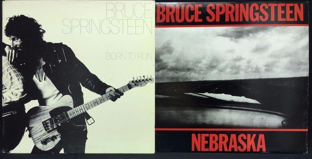 Bruce Springsteen Nebraska Born To Run Lp Vinyl Record Lot Of 2 Vinyl Records Bruce Springsteen Lp Vinyl