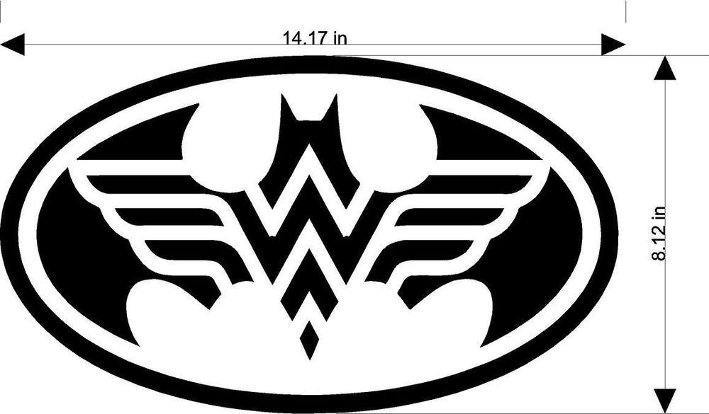 "Wonder woman superhero Logo symbol car truck laptop macbook decal sticker 6/""Gold"