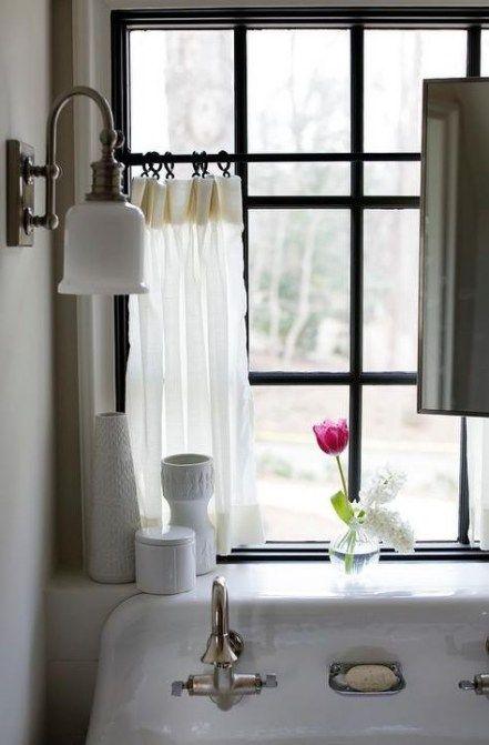 16+ Ideas Kitchen Window Curtains Cafe Sinks #kitchen ...