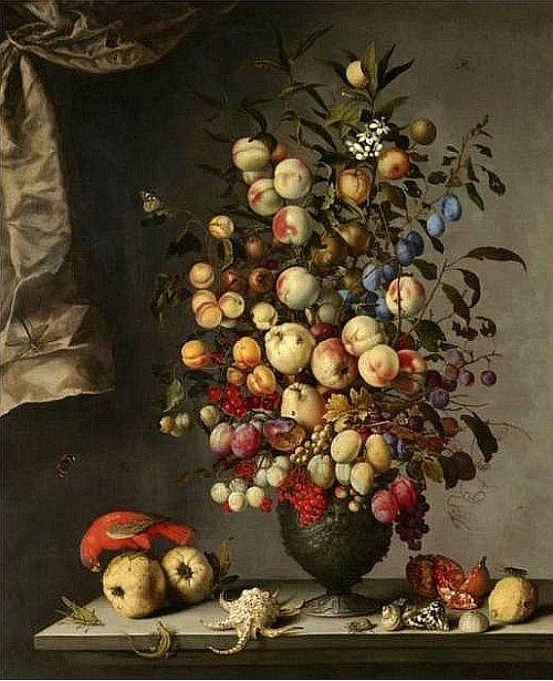 Balthazar van der Ast, Still Life with Fruit, 17th century